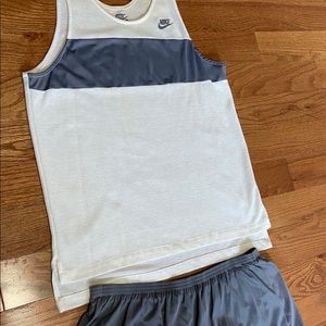 Vintage 80's Nike Tanktop and Shorts Running Set